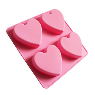 Silicone 4 Cavity Heart Mould