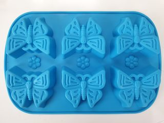 6 Cavity Silicone Butterfly Mould