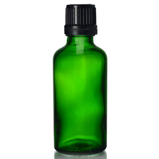 Green Glass bottle 50ml - fast dripulator Cap