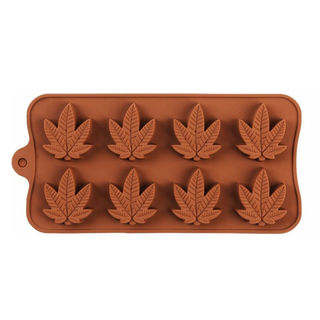 Silicone 8 Cavity Hemp Leaf Mould