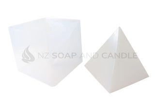 Silicone 3D Pyramid - Large with Plastic Shell Mould