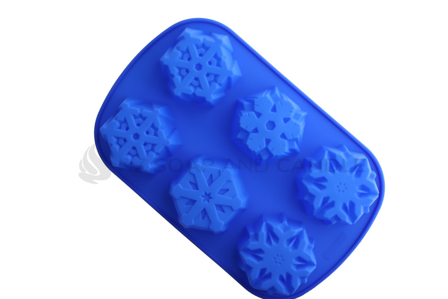 Silicone 6 Cavity Snowflake Mould