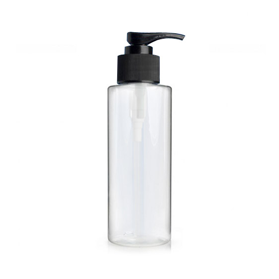 250ml Premier clear bottle and black lotion pump
