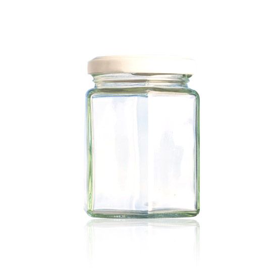 Hexagonal Glass Jar - 195ml
