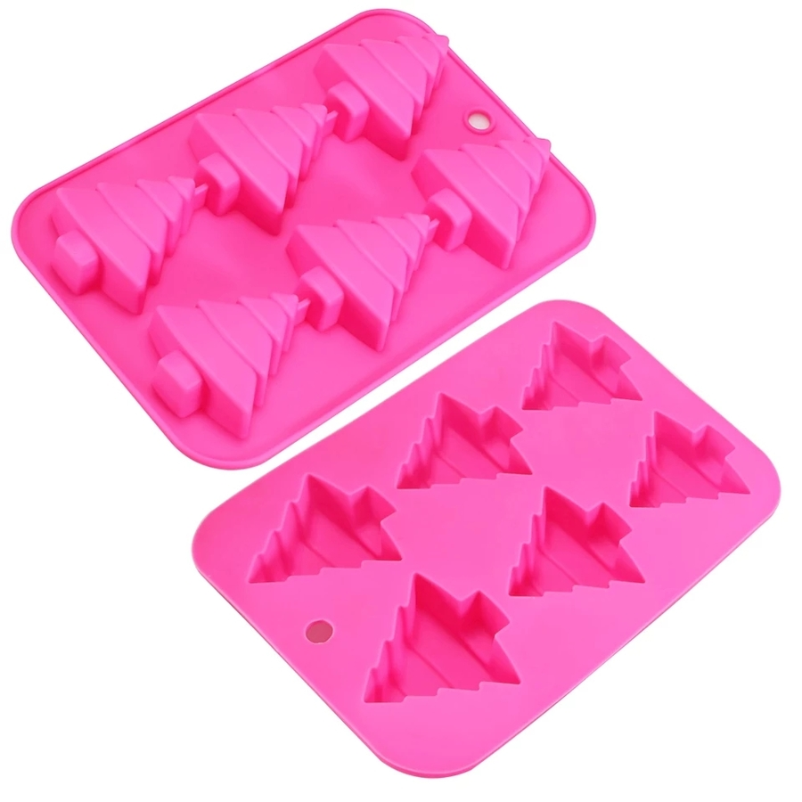 Silicone 6 Cavity Christmas Tree Mould