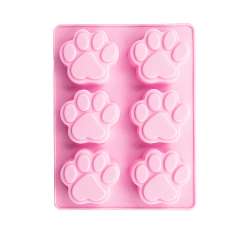 Silicone 6 Cavity Cat Paw Mould