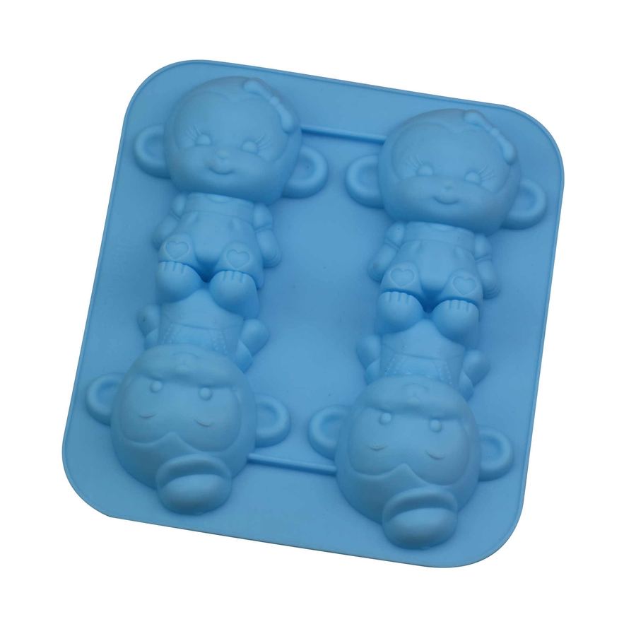 Silicone 4 Cartoon Monkey Mould