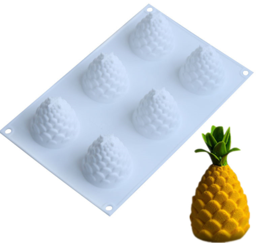 Silicone 6 Cavity Pineapple Mould