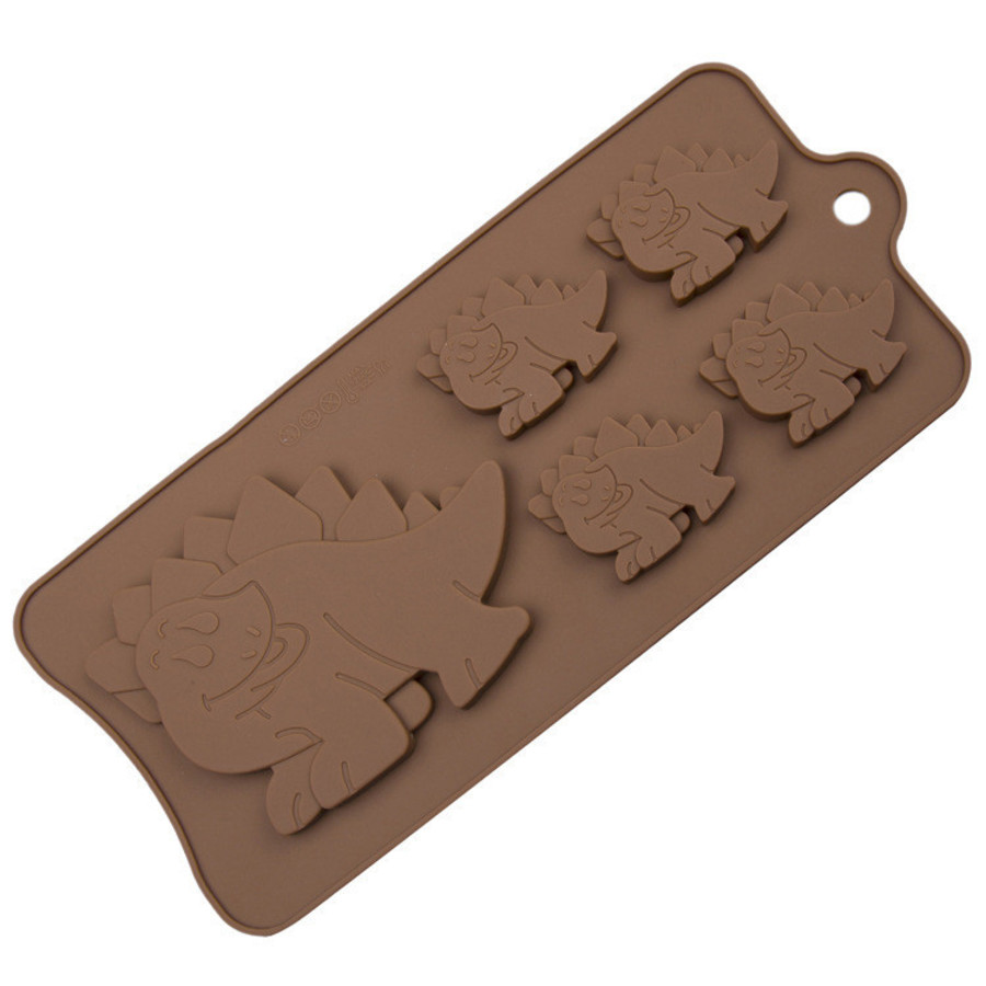 Silicone 5 Cavity Dinosaur Mould