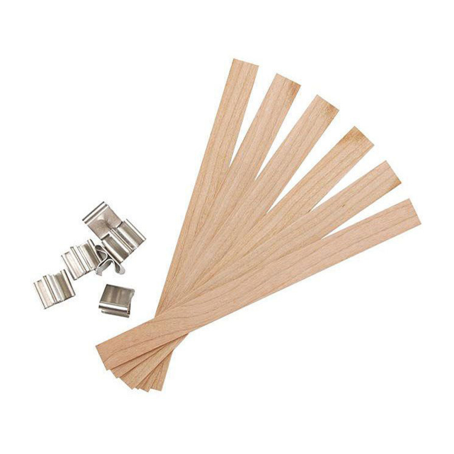 Wooden Wicks with Sustainers 8mm x 100mm