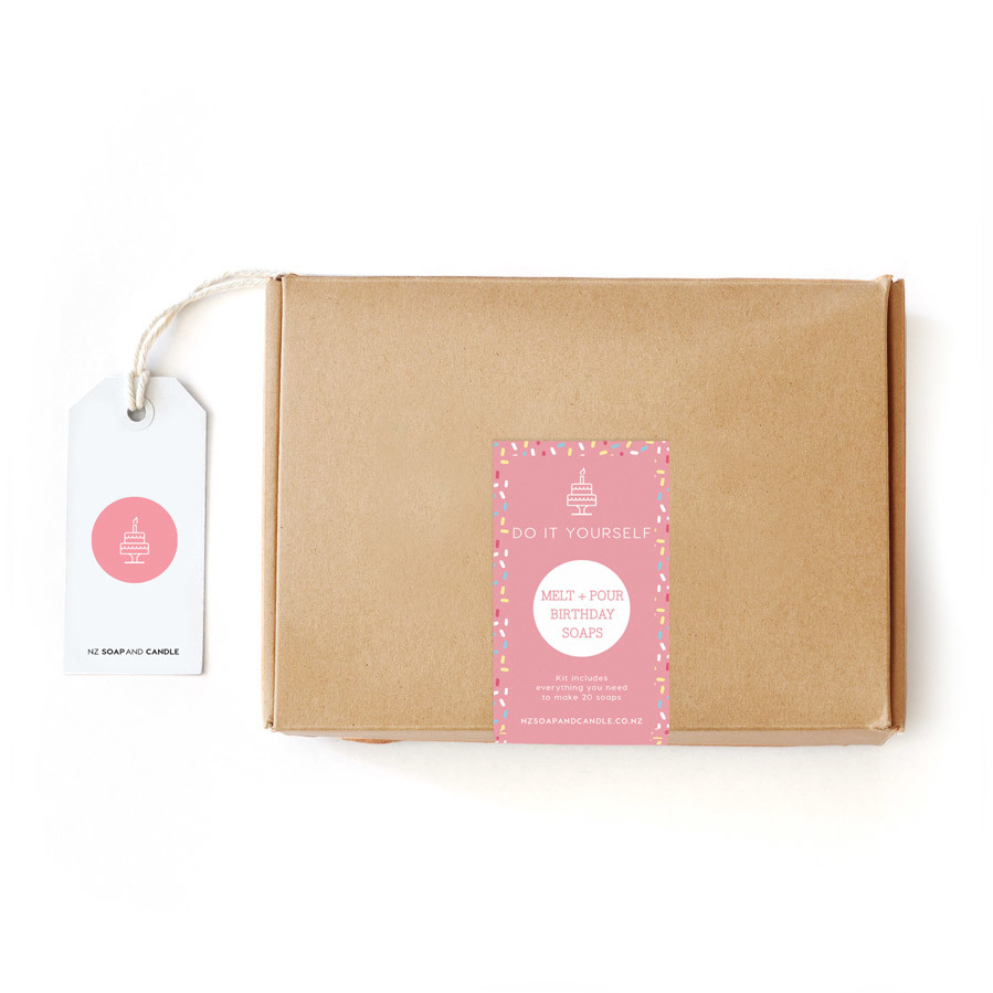 DIY Kit - Melt and Pour Soap Birthday (Pink)